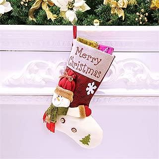Nesee Christmas Stockings,Xmas Classic Christmas Stocking Santa Snowman Character Christmas Decorations Party Supplies