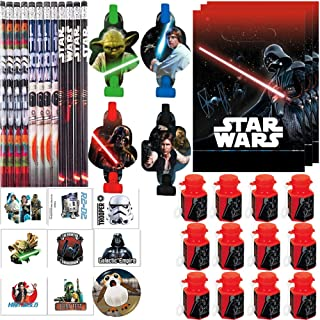Pencils Stickers Bounce Balls Star Wars Birthday Party Favor Bundle includes Loot Bags Tattoos