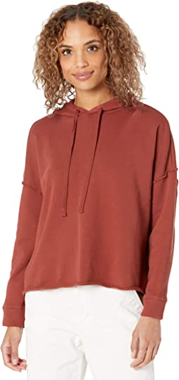 Organic Cotton French Terry Cropped Hoodie