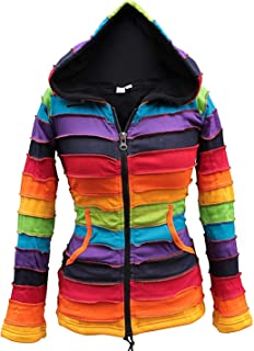 Shopoholic Fashion Women Fleece Lined Rainbow Jacket