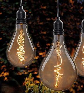 Hellum 524383 lampa wisząca LED z pilotem zdalnego sterowania, do wewnątrz i na zewnątrz, bezprzewodowa lampa wisząca, żar...