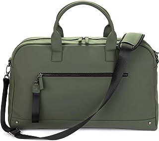 The Friendly Swede Weekender Reisetasche für Damen und Herren - Hochwertige Duffle Bag Reisetasche Handgepäck Tasche - VRETA Travel Bag - 35L, Veganes PU Grün Matt