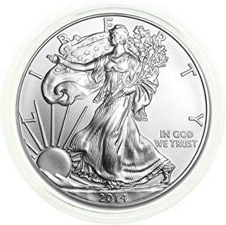 2014-1 oz American Silver Eagle FREE Plastic Protective Holder .999 Fine Silver with our Certificate of Authenticity Dollar Uncirculated Us Mint