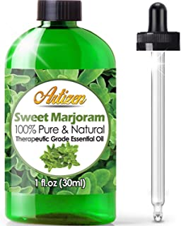 Artizen Sweet Marjoram Essential Oil (100% Pure & Natural - UNDILUTED) Therapeutic Grade - Huge 1oz Bottle - Perfect for A...
