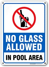 no glass in pool area