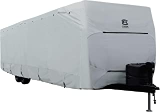 Classic Accessories Over Drive PermaPRO Deluxe Travel Trailer Cover, Fits 15' - 18' RVs - Lightweight Ripstop and Water Re...