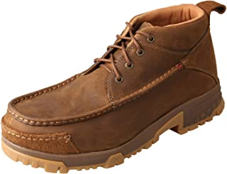 Twisted X Men's 4-Inch Composite D Toe Lace-Up Work Boots - Distressed Saddle