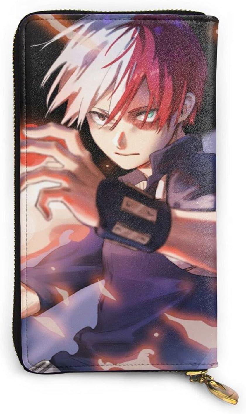 My Hero Academia Shoto Todoroki Wallet Cheap mail order sales Anime Zip Cartoon Leather San Diego Mall