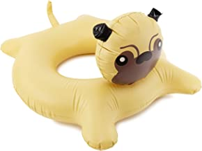 Toyland Jumbo Inflatable Puppy Pug Dog Swim Ring Summer Beach Pool Float Lilo Lounger Raft