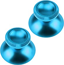 Gam3Gear Aluminum Alloy Analog Metal Thumbstick Thumb Sticks Buttons Hats Spare Parts Accessories Modded for Xbox ONE Light Blue (Set of 2)