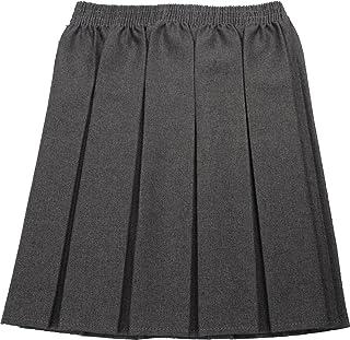 Girls Grey School Skirts Zip Up Adjustable Waist Various Styles Exstore 3-16yrs