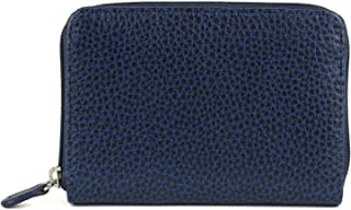 Laurige France Small Women's Leather Wallet Navy Blue
