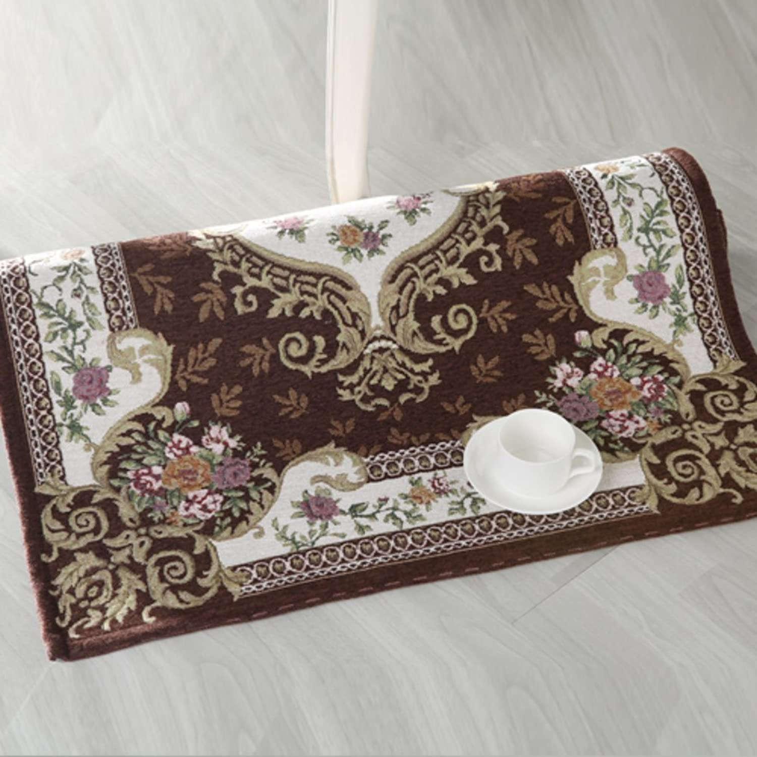 European Style,Jacquard Doormat Bedroom, Computer Chairs,Basket,Chair Pad Study,Table Mat-B 120x120cm(47x47inch)