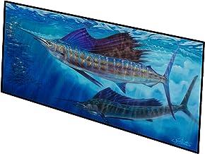 Caroline's Treasures Wide Open Sailfish Indoor or Outdoor Runner Mat 28x58 doormats, Multicolor