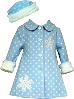 Bonnie Jean Little Girl 'sスノーフレークフリースコートwith Hat