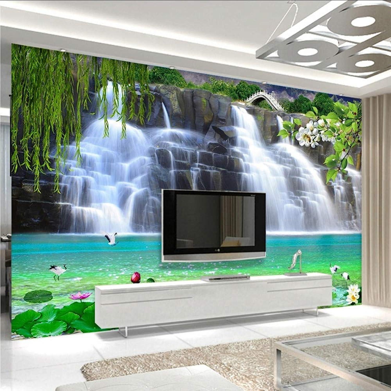 n ° 1 en línea Knncch Knncch Knncch Papel Tapiz Fotográfico Estéreo 3D Cascadas Naturaleza Paisaje Mural Sala De Estar Tv Sofá Fondo Pintura De Parojo Decoración Para El Hogar Papel De Parojo 3D-200X140Cm  hermoso