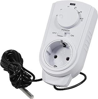 MC POWER - Stopcontactthermostaat klimaatregeling | TCU-440 | 5-30 °C, max. 3.500 W, 230 V/16 A, temperatuursensor | bedie...