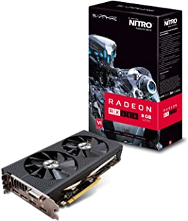 Sapphire 11260–01–20G 8GB Sapphire Radeon RX 480Nitro 14mm Polaris PCIe 3.0Tarjeta gráfica–Negro (8000MHz GDDR5, 1208MHz GPU, 1342MHz Boost, 2304Streams)