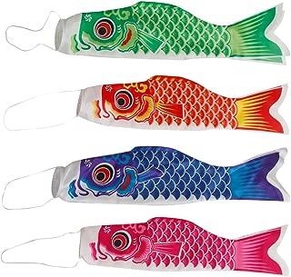 MonkeyJack 5pcs/ Set Japanese Carp Windsock Streamer Fish Flag Kite Koinobori 70x17cm Home Outdoors Hanging Decoration 5 Colors