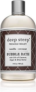 Deep Steep Bubble Bath, Vanilla Coconut, 17 Ounce