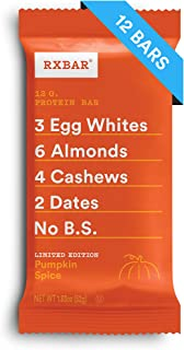 RXBAR, Pumpkin Spice, Protein Bar, Breakfast Bar, High Protein Snack, 1.83 Ounce, Pack of 12
