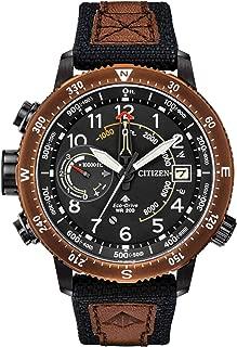 Citizen Promaster Altichron BN5055-05E Mens Black Cordura Band Khaki Quartz Dial Watch