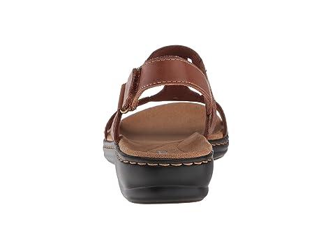 Clarks Bronceado Leisa Leatherdark De Leathernavy Cuero Negro Anual rqr4F