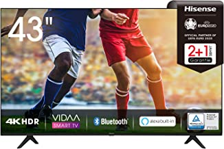 Hisense 43AE7000F 108cm (43 Zoll) Fernseher (4K Ultra HD, HDR, Triple Tuner..