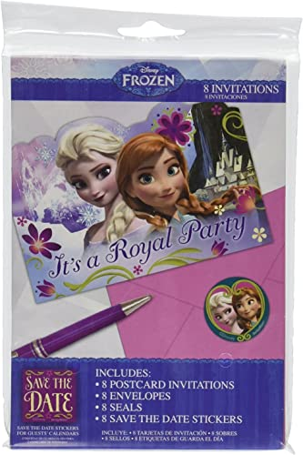 Disney Frozen Birthday Party Invitations with Envelopes (24 Count)