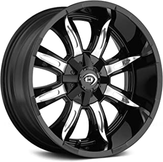 Vision 423 Manic Gloss Black Machined Face 17X9 Wheel Rim (-12 offset, 5-114.3/5-127)