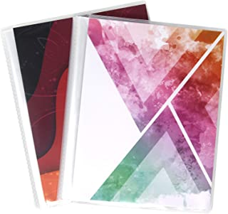 6 x 8 Photo Albums Pack of 2 - Each Large Format Photo Album Holds Up to 60 6x8 Photos in Clear Pockets. Flexible, Removable Covers Come in Random, Assorted Patterns and Colors.