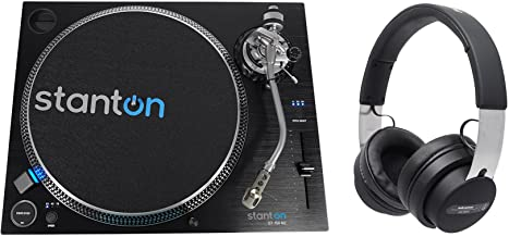 Stanton ST.150 M2 Direct Drive DJ Turntable+Audio Technica Over-Ear Headphones