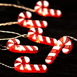 Candy Cane String Lights for Decoration Ideas, Christmas, Saint Nicholas Day, 10 ft 40LEDs with Remote, Timer 8 Flicker Mode, USB / Battery Powered for Kids Room, Bedroom, Parties, Garden Decor