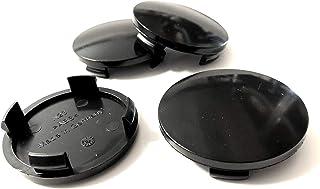 Nabenkappen Felgendeckel für Alufelgen 60mm N23 Schwarz (4 Stück) DIK157