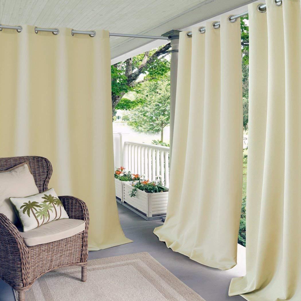 Nil - Cortina de color sólido para exterior de 84 piezas, cubierta ...