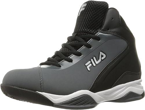 Fila Hommes's Contingent Basketball chaussures, Castlerock noir noir Metallic argent, 9.5 M US  à vendre