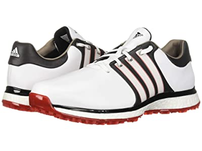 adidas Golf Tour360 XT Spikeless Wide (Footwear White/Core Black/Scarlet) Men