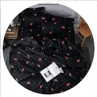 Secret-shop Bedding Set Childish Elephant Bear Eyelash Print King Queen Size Linens Duvet Cover Pillowcases Brief Bed Covers,XMG,UK Single 135x200cm