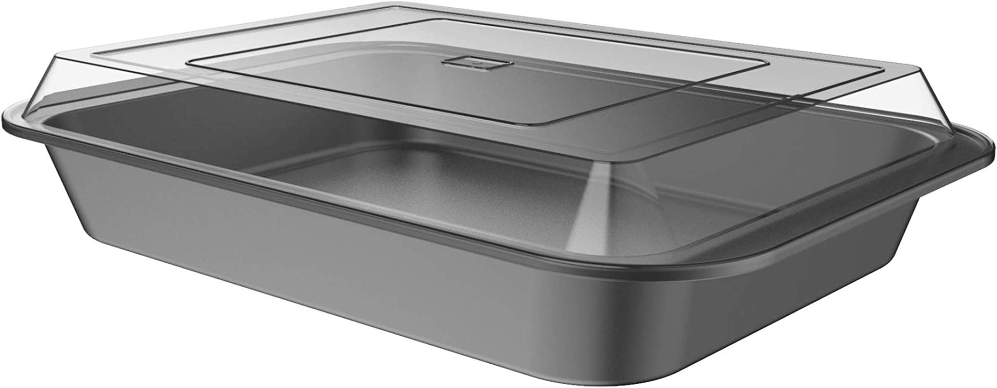 Classic Cuisine 82 KIT1102 Baking Pan With Lid 2PC Nonstick Rectangular Bakeware Set 9 X13 For Sheet Cake Brownies Bars Lasagna And More Kitchen Cookware