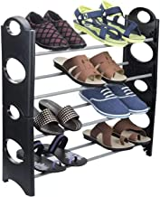 NISHAJ Multi-Purpose Steel Shoe Rack - for Man and Woman | Home and Office Use 4 Tier Convertible Easy to Assemble & Light Weight Shoe Rack Organizer Stand - Multi Uses