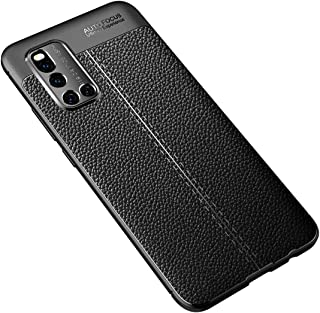 JINJIN for For VIVO V19 Litchi Texture TPU Shockproof Case(Black) Cover (Color : Black)