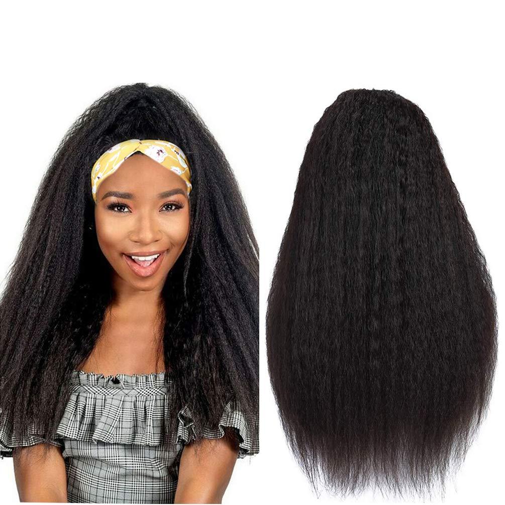 JINREN Headband Human Rare Hair Free shipping on posting reviews Wigs Kinky Straight Density 280% Braz