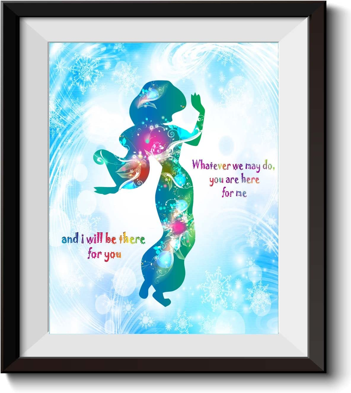 wall art picture quote gift home decor disney poster Little Mermaid print