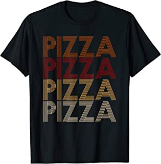 Vintage 70s Style Pizza T Shirt