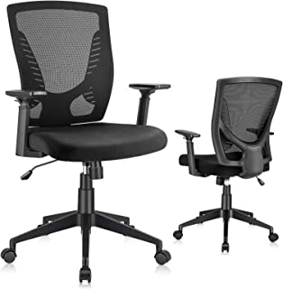 ELABEST Mesh Office Chair, Ergonomic Desk Chair with Lumbar Support, Thick Seat Cushion, Adjustable Height, Swivel Compute...