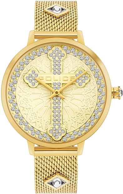 Orologio con croce cristiana - cristo re - quarzo unisex adulto con cinturino in acciaio inox PL16031MSG.22MMA