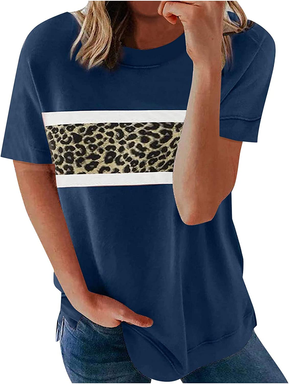 Womens Tops 3/4 Sleeve T Shirts Women Cute Graphic Blessed Shirt Funny Inspirational Teacher Fall Tees Tops Brown