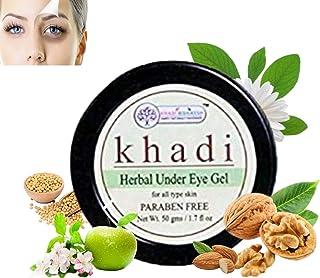 KHADI RISHKESH Herbal Under Eye Cream Gel for Dark Circles, Wrinkles & Removal Of Fine Lines for Women & Men (50 gm)