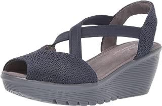 Skechers Womens 41102 Parallel - Peep Toe Gore Slingback Wedge