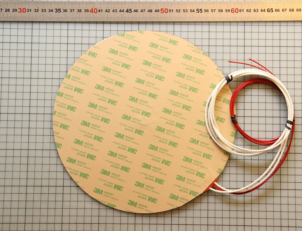 KEENOVO Circular//Round Silicone Heater Pad,Dia 10 400W 120V with 3M PSA /& NTC 100K thermistor for Kossel Style /& Delta 3D Printer HeatedBed or Steel Tank Bucket Container Bottom Heater